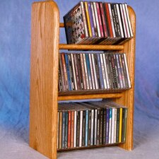 <strong>Wood Shed</strong> 300 Series 78 CD Dowel Multimedia Tabletop Storage Rack