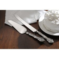 Bridal Flatware Michelangelo Cake Knife and Server Set