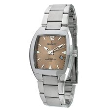 Men's Bracelet Watch in Silver Tone