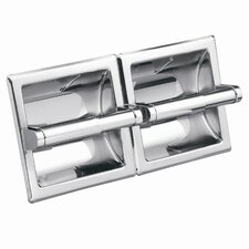 <strong>Creative Specialties by Moen</strong> Commercial Hotel / Motel Double Recessed Toilet Toilet Toilet Paper Holder in Polished Chrome