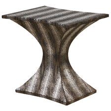 <strong>Gail's Accents</strong> Modern Striped Hour Glass End Table