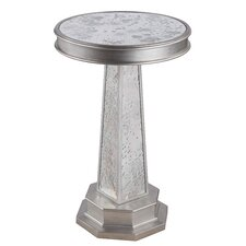 ETC Round Mirrored End Table