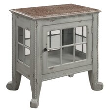 """Cottage"" Seafoam Window Pane Commode"