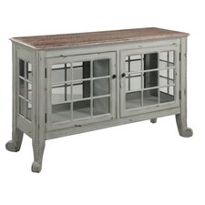 """Cottage"" Seafoam Curio Console Table"