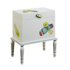 <strong>Gail's Accents</strong> Shoreline Flip Flop Trunk End Table