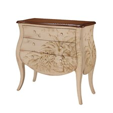 <strong>Gail's Accents</strong> Shoreline Banana Leaf Bombay 3 Drawer Chest