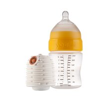 8 oz Feeding Bottle with Warmer and Medium Flow Teat