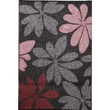 Indoor Outdoor Reversible and Waterproof Essence Red and Brown Area Rug
