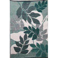 Indoor Outdoor Reversible and Waterproof Natura Green and Beige Area Rug