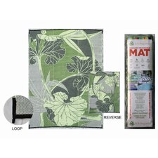 <strong>B. B. Begonia</strong> RV / Camping Mat, Blossom Green and Grey Reversible Mat