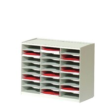 Master Literature Organizers with 24 Compartments in Grey