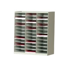 Master literature Organizers with 36 Compartments in Grey