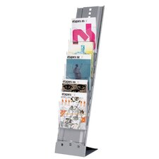 7 Compartment Portable Floor Literature Display