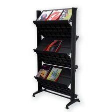 X-Large Double Sided Literature Display in Black