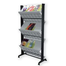 X-Large Double Sided Literature Display in Grey