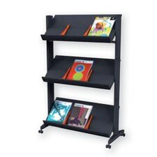 X-Large Half-sized Single Sided Literature Display in Black