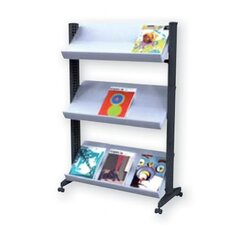 X-Large Half-sized Single Sided Literature Display in Grey