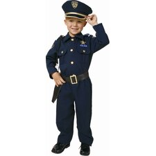 <strong>Dress Up America</strong> Award Winning Deluxe Police Dress Up Children's Costume Set