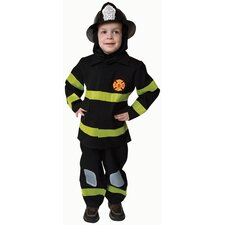 Deluxe Fire Fighter Dress Up Children's Costume Set