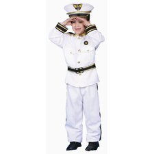 Deluxe Navy Admiral Children's Costume Set