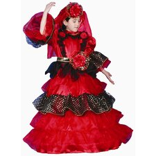 Spanish Dancer Deluxe Dress Children's Costume