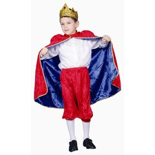 <strong>Dress Up America</strong> Deluxe Royal King Dress Up Children's Costume in Red
