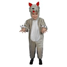 Kids Plush Wolf Costume