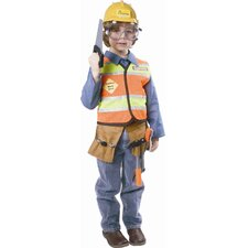 <strong>Dress Up America</strong> Construction Worker Children's Costume