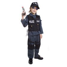 <strong>Dress Up America</strong> S.W.A.T Police Officer Children's Costume
