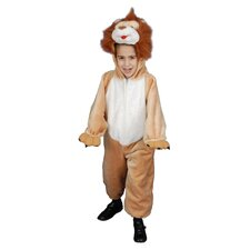 Kids Plush Roaring Lion Costume