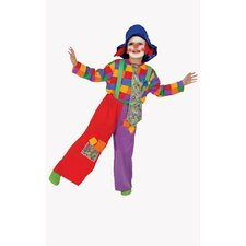 <strong>Dress Up America</strong> Colorful Boy's Clown Costume