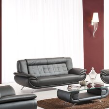 <strong>Tip Top Furniture</strong> Curve Leather Sofa