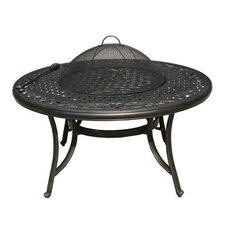 Sorrento Round Aluminum Fire Pit Table