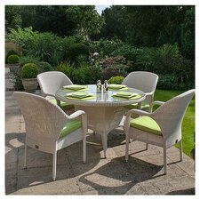 Sussex Round Table and 4 Stackable Armchairs