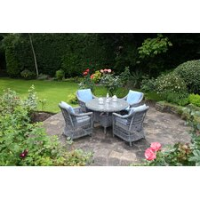Devon Round Table with 4 Paddock Dining Armchair