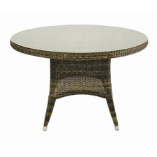 Sussex Round Glass Dining Table