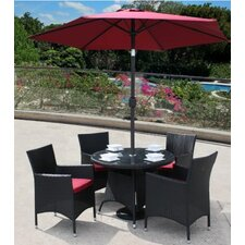 Lincoln Round Table with 4 Lincoln Dining Armchair in Black