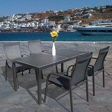Capri 5 Piece Rectangle Dining Set