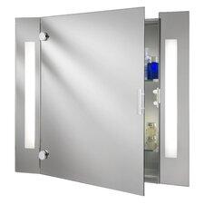 Beleuchteter Spiegelschrank mit Rasiersteckdose