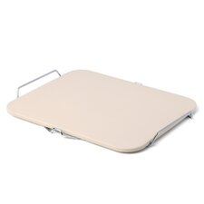 "Rectangle Pizza Stone with Wire Frame / 15.2"" x 12.1"""