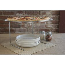 "Pizzacraft Wire Pizza Stand with 15.9"" Aluminum Pan"