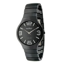 Women's Ceramic Dial Watch in Black