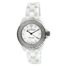 Women's Swarovski Crystal Dial Watch in White with Silver Tone Hands