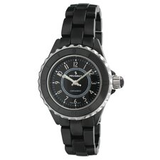 Women's Sport Bezel Dial Watch in Black