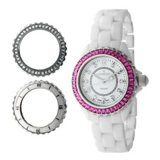 Women's Genuine Ceramic Interchangeable Bezel Set Watch