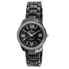 <strong>Peugeot Swiss</strong> Women's Swarovski Dial Watch in Black
