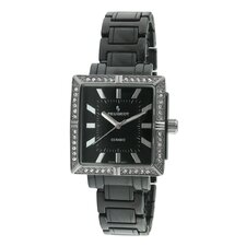 Women's Ceramic Swarovski Crystal Dial Watch in Black