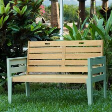 Florenity Bench in Teak / Green