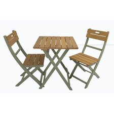 Florenity 3 Piece Square Dining Set