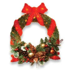 "<strong>National Tree Co.</strong> Pre-Lit 24"" Sisal Wreath"